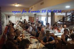 Repas fin d'année 28 juin 2015 restaurant Le Globe