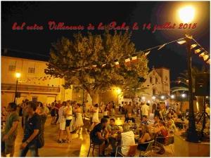 """Bal """"retro """" à Villeneuve de la Raho le 14 juillet 2015"""