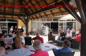 Repas-Milonga du 26 juin 2016 le Dauphin