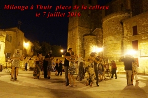 Milonga à Thuir place de la Cellera le 7 juillet 2016