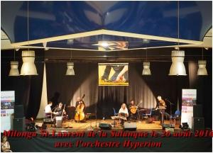 milonga St-Laurent de la Salanque le 26 août 2016 avec l'orchestre Hypérion
