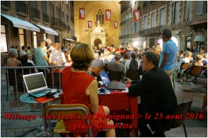 milonga de l'été - les jeudis de Perpignan - place Gambetta - le 25 août 2016
