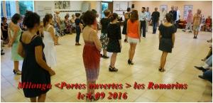 milonga portes ouvertes aux Romarins le 6 09 2016