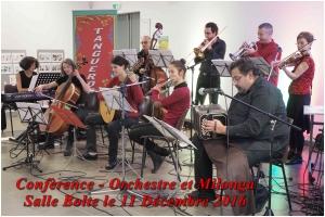 Conférence - Orchestre - Milonga - salle Bolte le 11 /12/2016