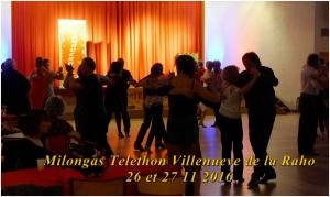 Milongas Telethon Villeneuve de la Raho les 26 et 27 11 2016