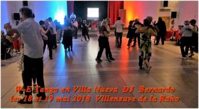 W-E Tango Villeneuve de la Raho avec DJ Bernardo les 18 et 19 mai 2018